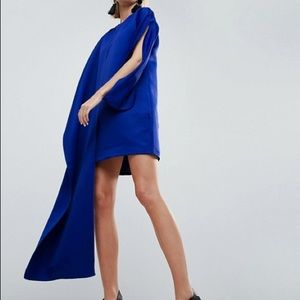 Blue cape dress